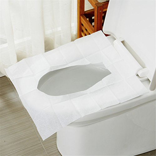 bjduck99 Toilet Seat Cover Disposable Paper Pad for Home Travel 10 Pack of 100 Sheets