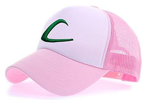 myglory77mall Sombrero de Animado para Hombre L.Rosa/Blanco t1