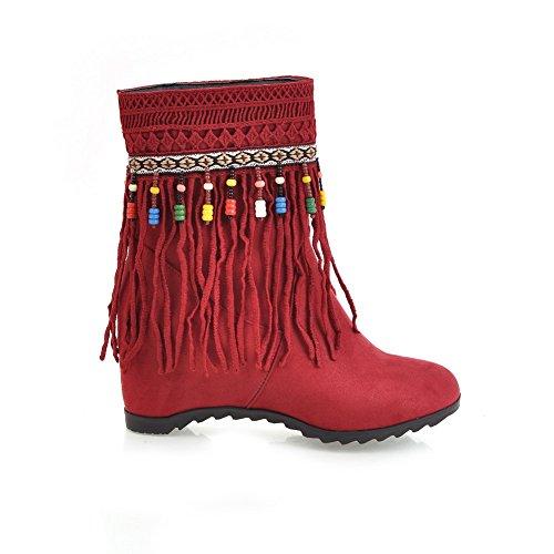 Nastoitettu Mns02410 Zip Ei kantapää Kengät Punainen Naisten Matala Mokka Ympäri Smokki 1to9 Slingback top Nubuck Varvas 6T7Fxwn