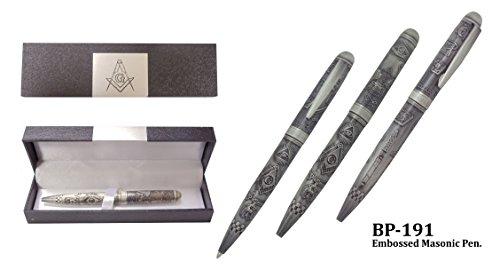 Embossed Masonic Pen W/ Gift box, all (Metal Gift Box)