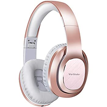 Rose Gold Eksa Over Ear Bluetooth Headphones 30 Hours Play Time Wireless Headset With Built In