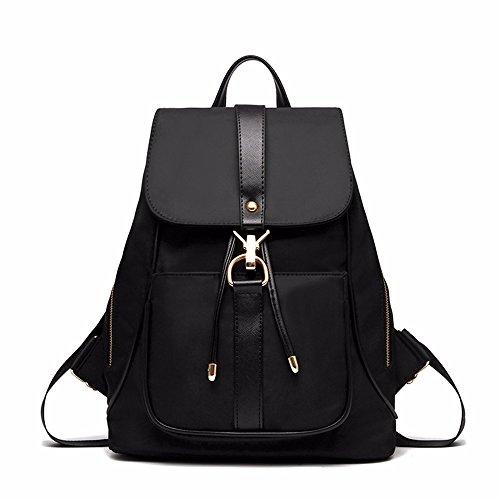 LBEIV Mochila de Moda Femenina Coreana Salvaje Mini Bolsa 2018 Nueva Ola Oxford Bolsa de Tela Femenina de Mochila, Púrpura black