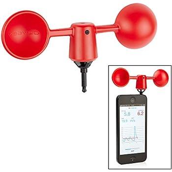 Vaavud Wind Speed Meter with Smartphone App - New Red