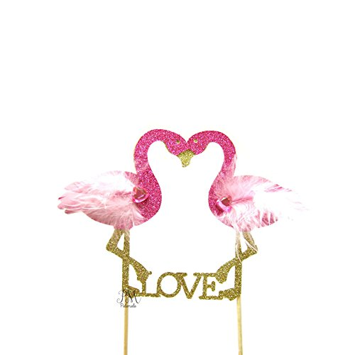 Pettstore-Flamingo-New-Cake-Topper-Insert-Card-For-Wedding-Birthday-Special-Events-Decorations-Love