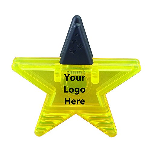 Star Magnetic Memo Clip - 150 Quantity - $1.80 Each - PROMOTIONAL PRODUCT / BULK / BRANDED with YOUR LOGO / CUSTOMIZED by Sunrise Identity