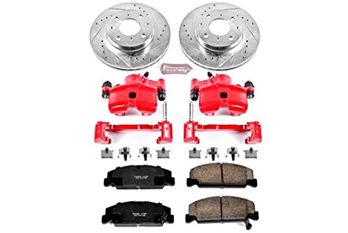 - Power Stop KC699 1-Click Performance Brake Kit with Calipers, Front Only