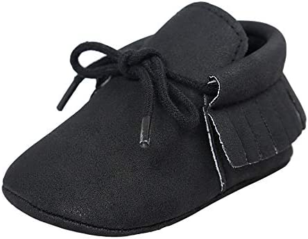 First Walk Girls Boys Toddler Soft Sole Baby Shoes With Tassels Newborn shoes