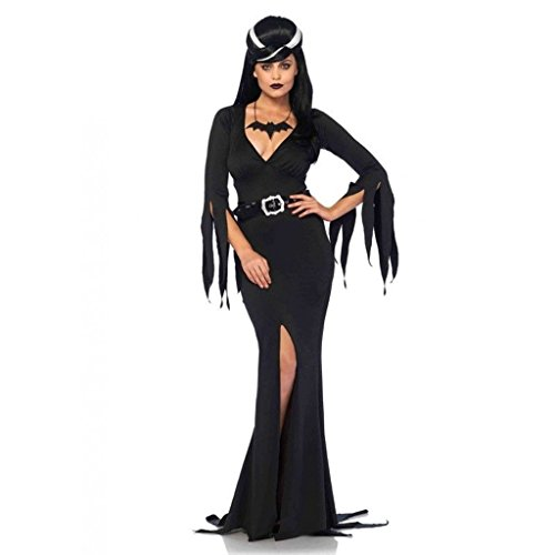 [Elvira Immortal Mistress Body Hugging Dress Outfit Adult Halloween Party Costume X-Large] (Halloween Costumes Elvira)