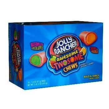 Jolly Rancher Awesome Twosome Fruit Chews, 1.8-Ounce Packages (Pack of 18)