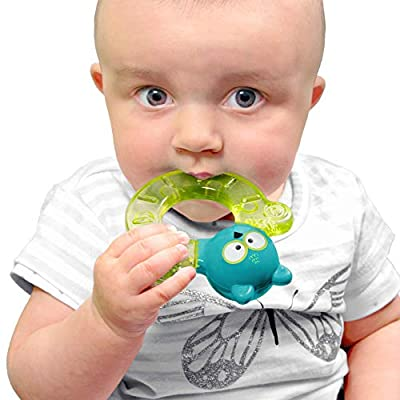 bblüv - Gümi - Owl - Chillable Textured Teething Toy (Lime) : Baby