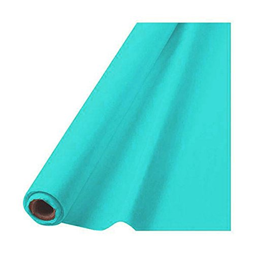 Amscan Party Perfect Waterproof Table Cover Roll, 1 Piece, Made from Plastic, Robin s-egg Blue, 40'' x 100 feet by by Amscan (Image #1)