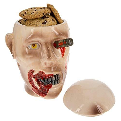 The Walking Dead Ceramic Cookie Jar - Zombie Walker Head Design -