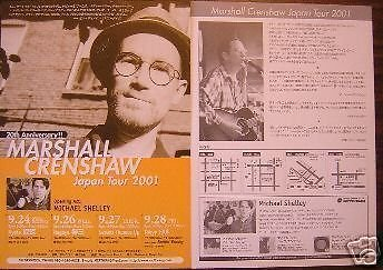 Marshall Crenshaw Rare Japan Concert Poster Handbill
