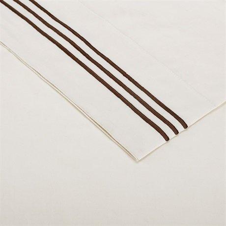 Madison Park Hotel 200TC Cotton Sheet Set - Ivory - Queen