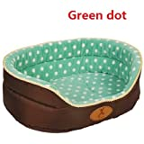 Size L dog bed house sofa kennel soft fleece pet dog cat warm bed