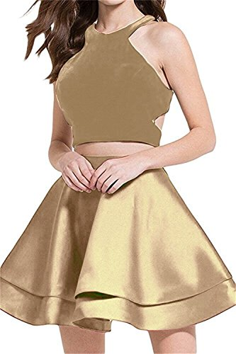 Party Pieces Prom BRL Homecoming Women's MALL Open Gown BRL32 Dresses Short with Pockets 2 Gold Back Evening Velvet qR7Bw