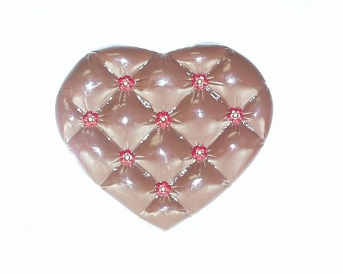 Large tufted heart lid V109 Valentine's Day chocolate candy mold (Large Chocolate Heart Box Mold compare prices)