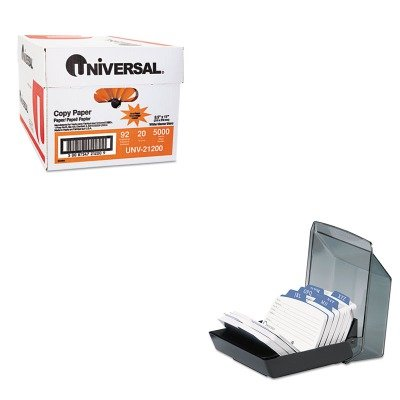 KITROL67093UNV21200 - Value Kit - Rolodex Petite Covered Tray Card File Holds 250 2 1/4 x 4 Cards (ROL67093) and Universal Copy Paper (UNV21200)