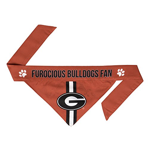 NCAA Georgia Bulldogs Pet Bandanna, - Red Hockey Dog