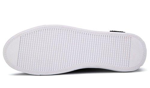 Tda Mens Avslappnad Slip På Elastiskt Tyg Loafers Kör Skateboard Skor Grå