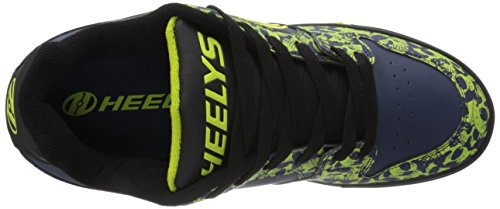 Heelys Heren Motion Plus Mode Sneaker Zwart / Navy / Lime Schedels