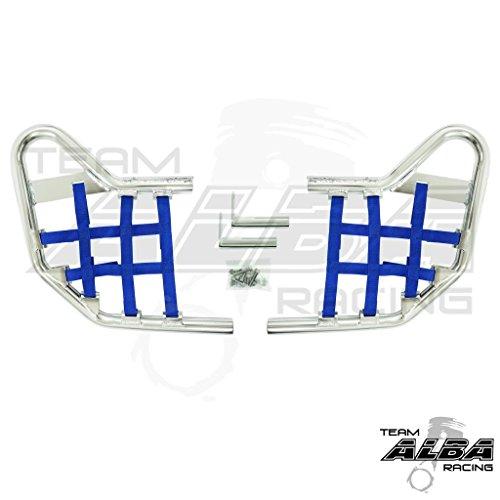 Yamaha Warrior YFM 350X (1990-2004) Standard Nerf Bars Silver w/Blue Net