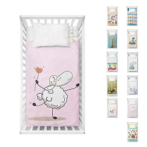 Adam Home Digital Print New Born Kids Cot Bed Duvet Cover Toddlers for Boys and Girls - Little Sheep