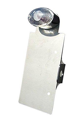 部品屋K&W TW225 サイドナンバーKIT (ミニキャッアイクリアー付) 逆反り (フロント側へ凸) P32109   B01G1LUEKC