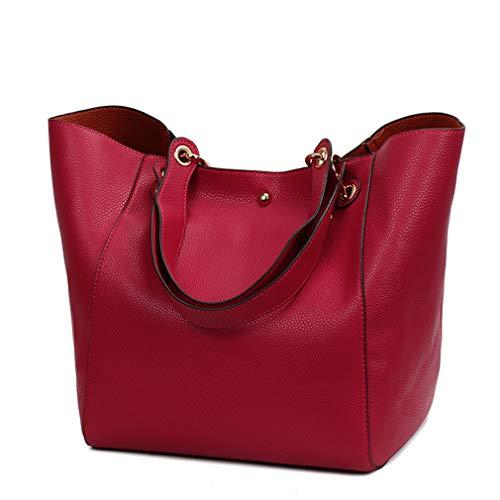 Fourre red Sacs Dames Capacité Main Main Et Top Femmes Tout Femelle Bourses BandoulièRe Grande PoignéE De Grandes Haoling en Luxe Cuir Pw0RxqO4