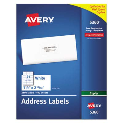 AVE5360 - Avery Copier Mailing Label