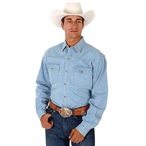 Roper Denim - Roper Men's Denim Long Sleeve Western Shirt Chambray X-Large
