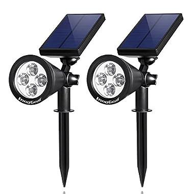 InnoGear Solar Lights Spotlight Outdoor Landscape Lighting Wall Light, Pack of 2 (White Light)