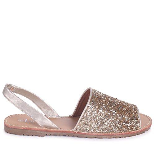 Linzi Candi - Gold Glitter Sling-Back Glitter Slider Gold Glitter 4BF1cuynGS