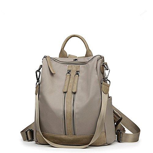 Rucksack Wallet School Women Shoulder Bag Khaki Purse Waterproof Backpack Lightweight Backpack wgHaTtq