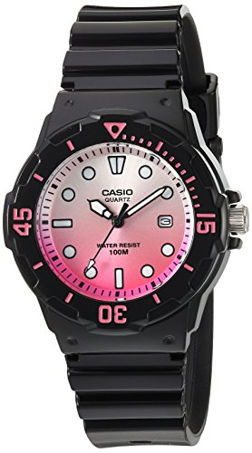 Casio Women's 'Dive Series' Quartz Resin Casual Watch, Color:Black (Model: LRW-200H-4EVCR)