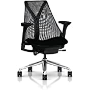 Herman Miller Sayl Task Chair: Tilt Limiter - Adj Seat Depth - Fully Adj Arms - Hard Floor Casters - Polished...
