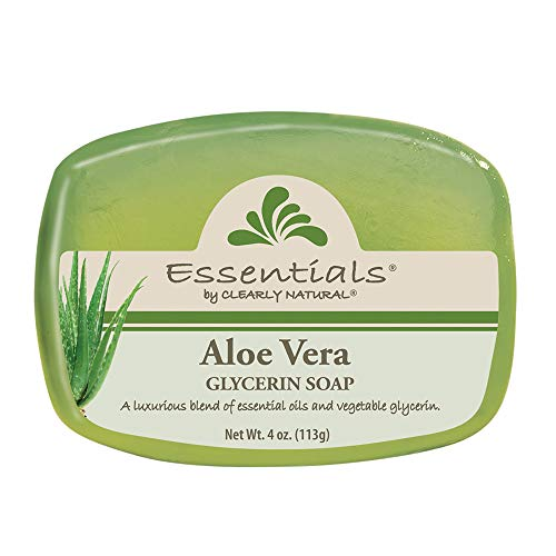 Clearly Natural Essentials Glycerin Bar Soap, Pack of 12, 4-Ounces Each