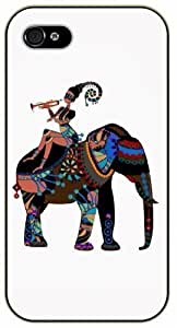 Indian Elephant - For Iphone 6Plus 5.5Inch Case Cover black plastic case / Animals and Nature