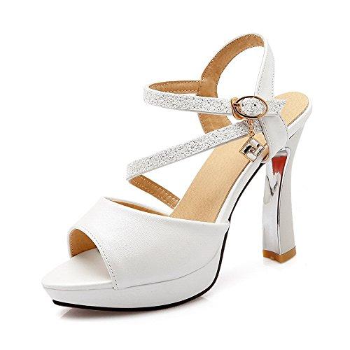 BalaMasa Womens Sandals Peep-Toe No-Closure Ankle-Wrap Urethane Fashion Fabric Urethane Ankle-Wrap Cushioning Urethane Sandals ASL04558 B07DCY1R23 Parent fd7eb2