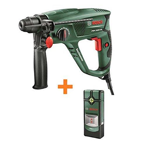 Bosch Bohrhammer PBH 2600 RE mit SDS-Plus - 570 W und 1, 8 J - Softgrip + Bosch Ortungsgerä t PMD 7