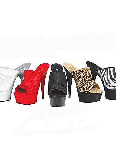 Slip eu44 Tacones Zapatillas y de red Plataforma Zapatillas GGX us12 Stiletto eu36 Tacones cn46 Zapatos uk10 uk10 black red Tacón de us6 Zapatos Abierta taco uk4 cn36 bajo Ons us12 eu44 mujer Punta aZznvx1qZ