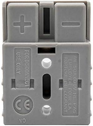 Maso Batterieanschluss Anderson Verbindungsstecker 50 Amp 600 V Kabelklemme Starthilfe Grau 10 Stück Auto