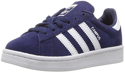 adidas Originals Boys' Campus C Sneaker, Dark Blue White, 2 Medium US Little Kid ()