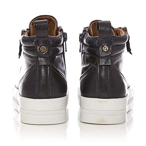 Moda Militare Blu Pelle In Donna Sneaker Marina 1xq1r8