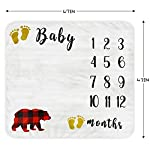 Baby-Monthly-Milestone-Blanket-Organic-Thick-Fleece-Backdrop-Memory-Blankets-Bonus-Floral-Wreath-Bib-Best-Newborn-Boys-and-Girls-Photography-Background-Prop-Large-for-Baby-Shower-Gifts-47x43in
