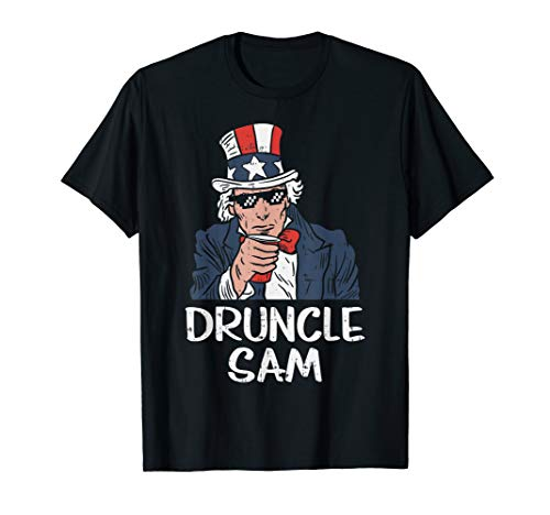 Druncle Sam Funny Uncle Sam Beer 4th Of July Party Drinking T-Shirt