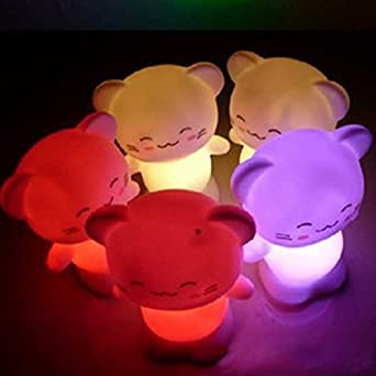 Cute Cat LED Night Light Happy Cat Decoration Energy Saving Lamp