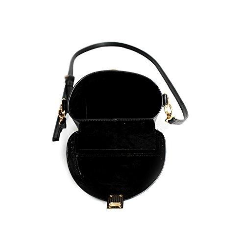 bag Black LHB18502BK Ladies Bag Women Cross Shoulder for MAMONA Leather Crossbody vIRnTxTf