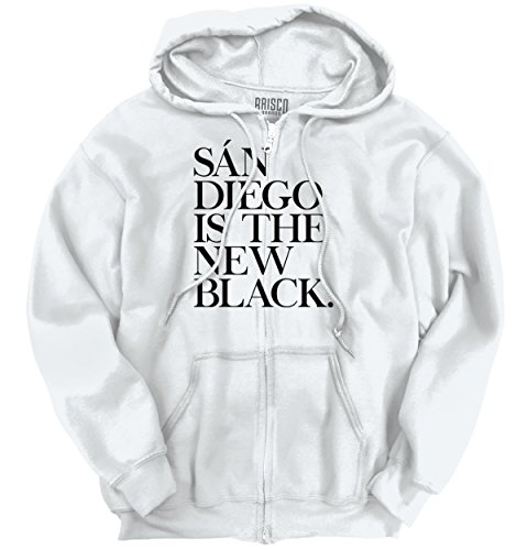 Brisco Brands San Diego, CA Is The New Black Humorous T Shirt Gift Ideas Zipper - Stockton San Francisco To Ca