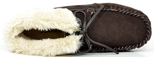 DREAM PAIRS Womens SHOZIE Faux Fur Slippers Loafers Flats Shoes Brown-02 VRNBv2lkH